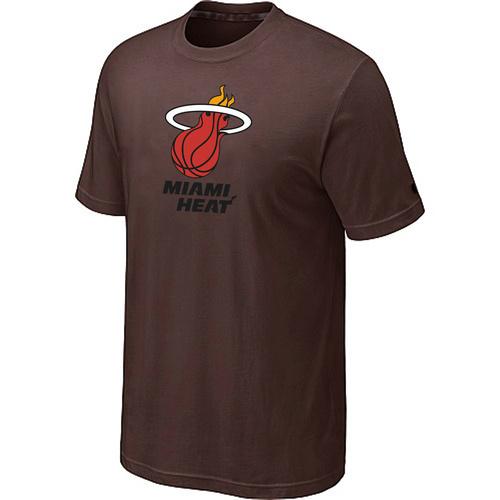 Miami Heat Big & Tall Primary Logo Brown T-Shirt