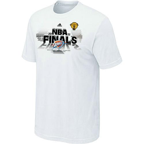 Oklahoma City Thunder adidas Western Conference Champions T-Shirt White