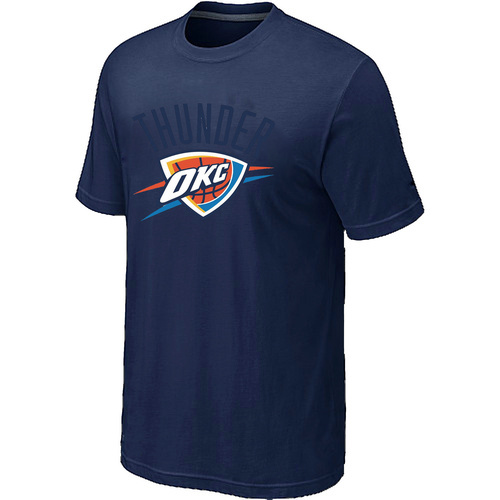 Oklahoma City Thunder Big & Tall Primary Logo D.Blue T-Shirt