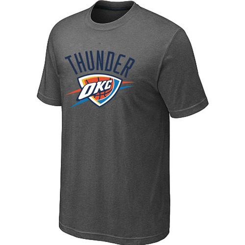 Oklahoma City Thunder Big & Tall Primary Logo D.Grey T-Shirt