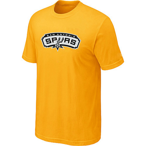 San Antonio Spurs Big & Tall Primary Logo Yellow T-Shirt