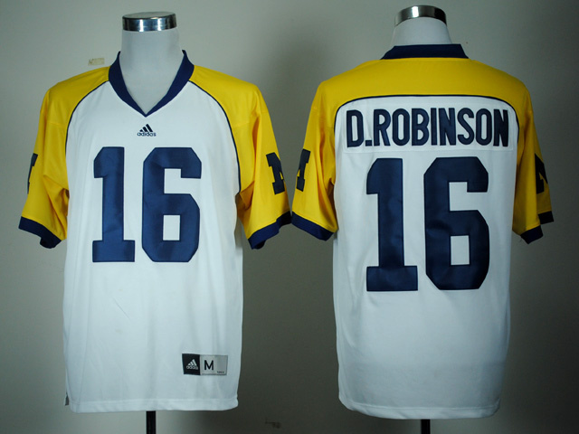 NCAA Michigan Wolverines 16 Denard Robinson White