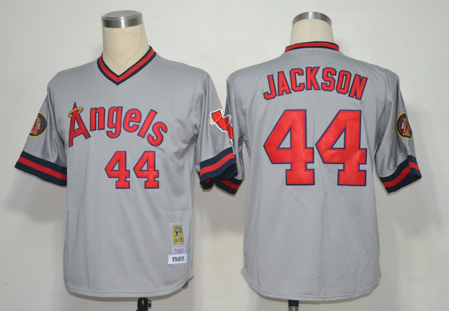 MLB Jerseys Los Angeles Angels 44 Jackson Grey MN 1985