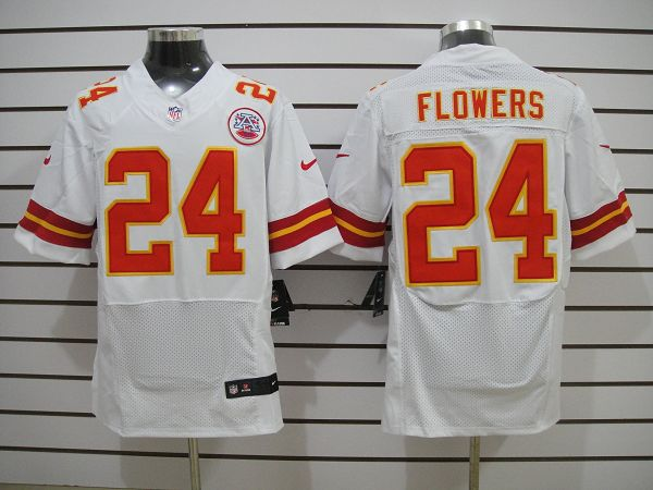 Kansas City Chiefs 24 Flowers White Eilte nike jerseys