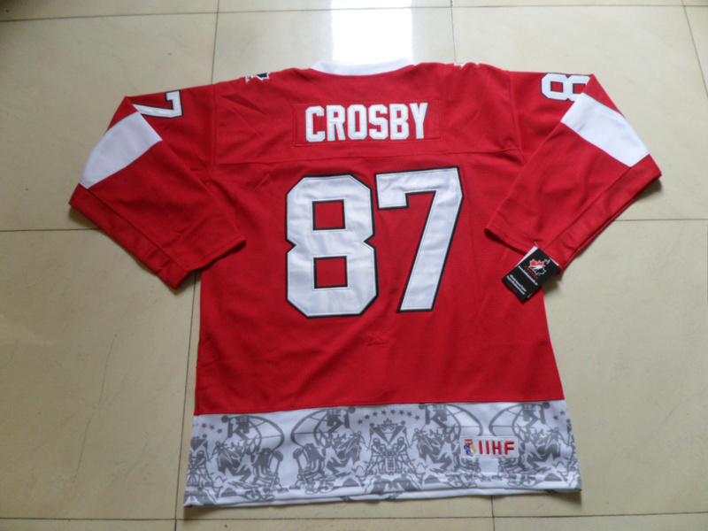 Olympics Canada 87 Sidney Crosby Red Jersey