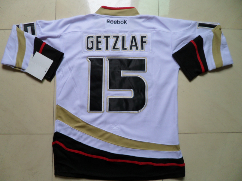 NHL Anaheim Ducks 15 Ryan Getzlaf White Jersey