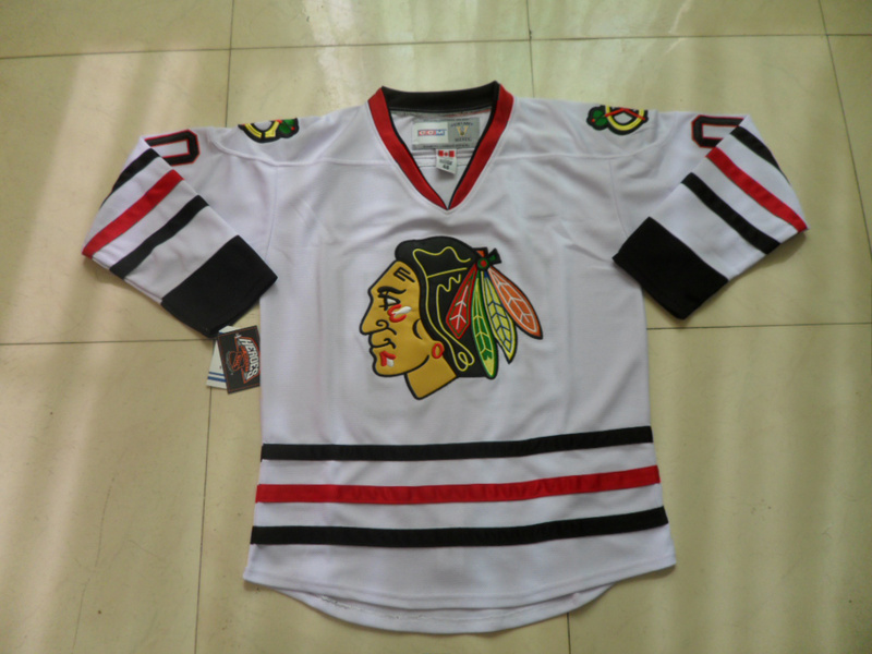 NHL Chicago Blackhawks 00 Clark Griswold White CCM Jersey