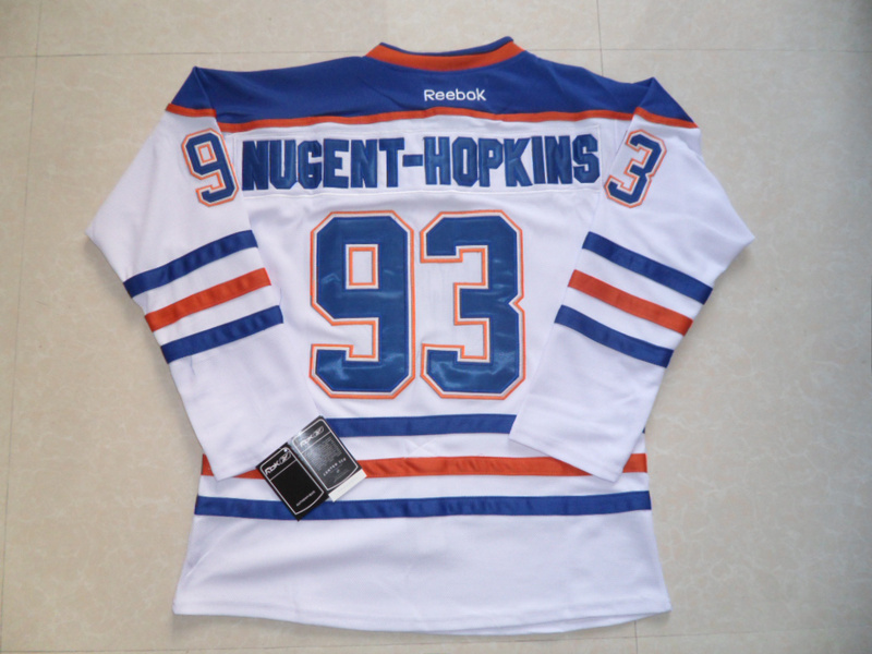 NHL Edmonton Oilers 93 Ryan Nugent-Hopkins White Jersey