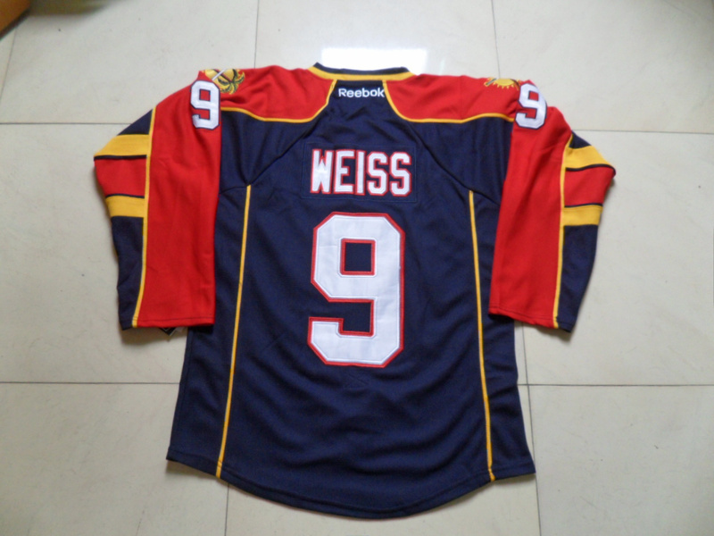 NHL Florida Panthers 9 Stephen Weiss Blue Jersey