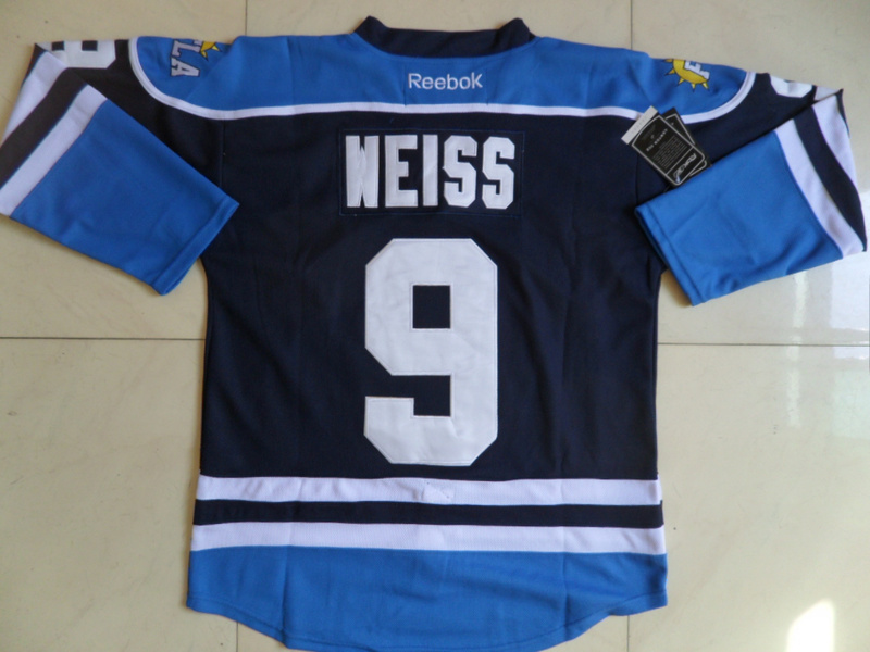 NHL Florida Panthers 9 Stephen Weiss Blue Third Jersey
