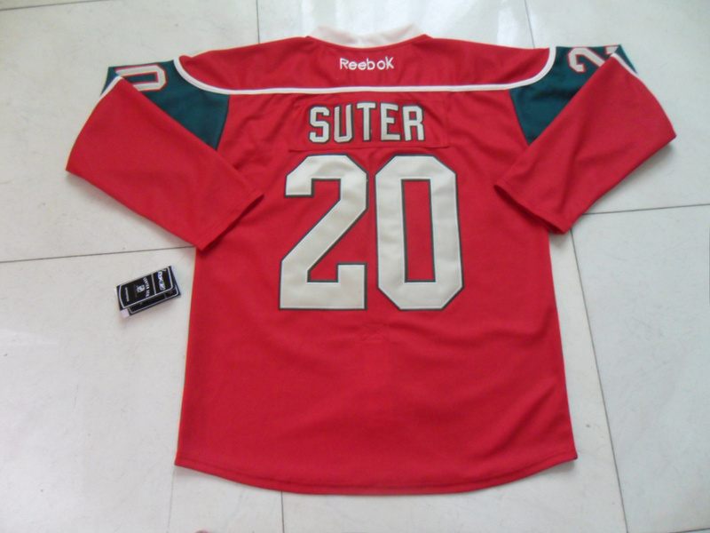 NHL Minnesota Wild 20 Ryan Suter Red Jersey