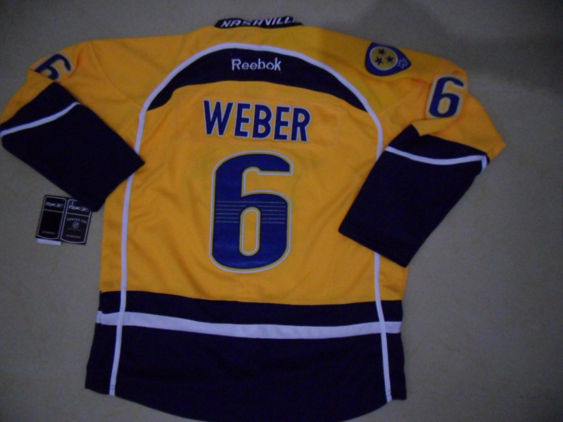 NHL Nashville Predators 6 Shea Weber Yellow