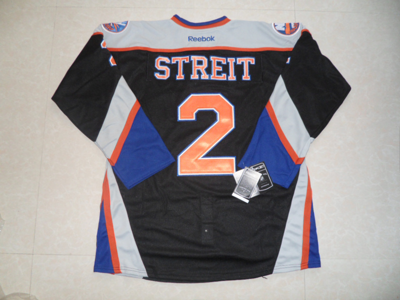 NHL New York Islanders 2 Streit Black Third Jersey