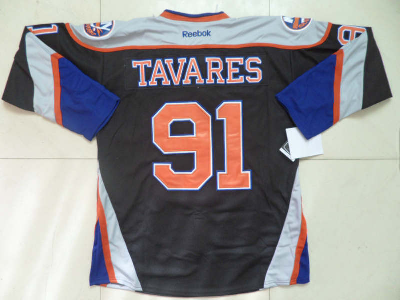 NHL New York Islanders 91 John Tavares Black Third Jersey