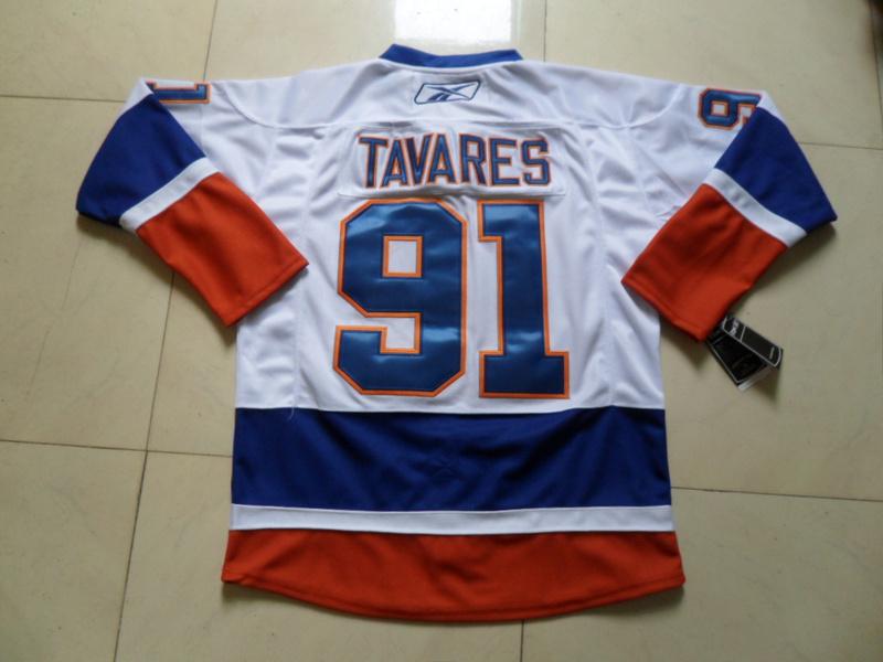 NHL New York Islanders 91 John Tavares White Jersey