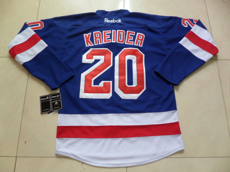 NHL New York Rangers 20 Chris Kreider Light Blue Jersey