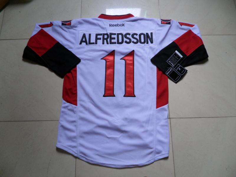 NHL Ottawa Senators 11 Daniel Alfredsson White Jersey