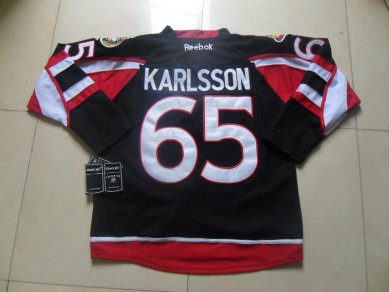 NHL Ottawa Senators 65 Erik Karlsson Black Third