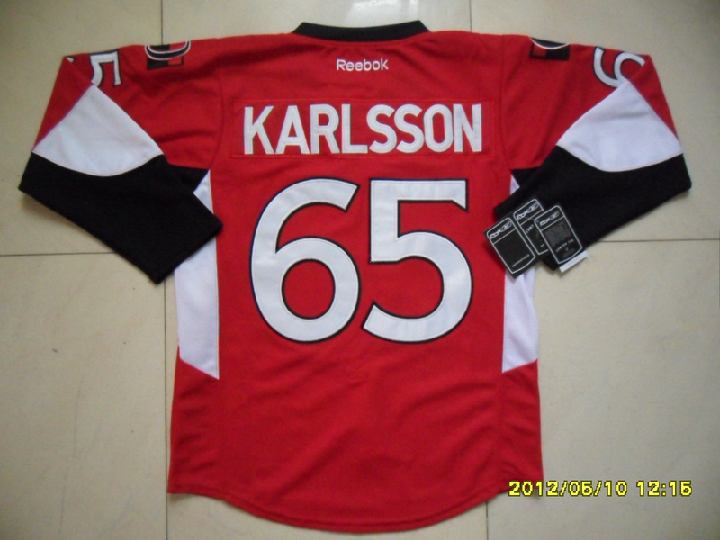 NHL Ottawa Senators 65 Erik Karlsson Red Jersey