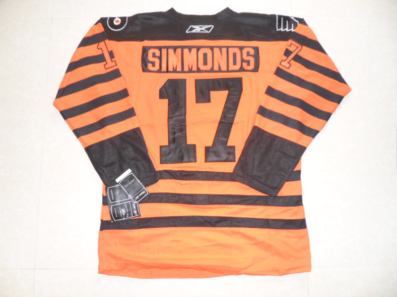 NHL Philadelphia Flyers 17 Wayne Simmonds Winter Classic Orange Jersey