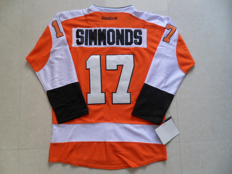 NHL Philadelphia Flyers 17 Wayne Simmonds Orange Jersey