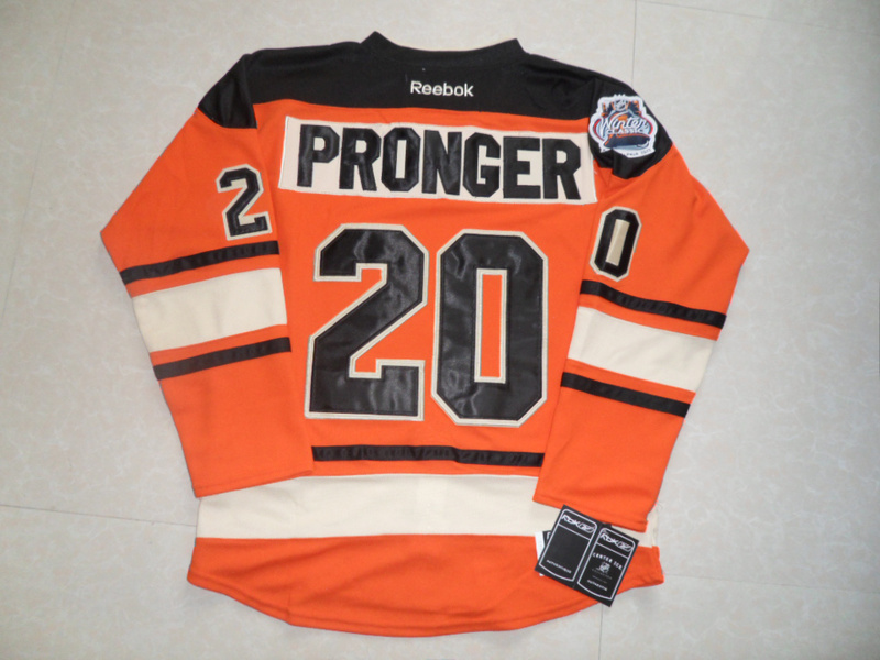 NHL Philadelphia Flyers 20 Chris Pronger Winter Classic Orange Jersey