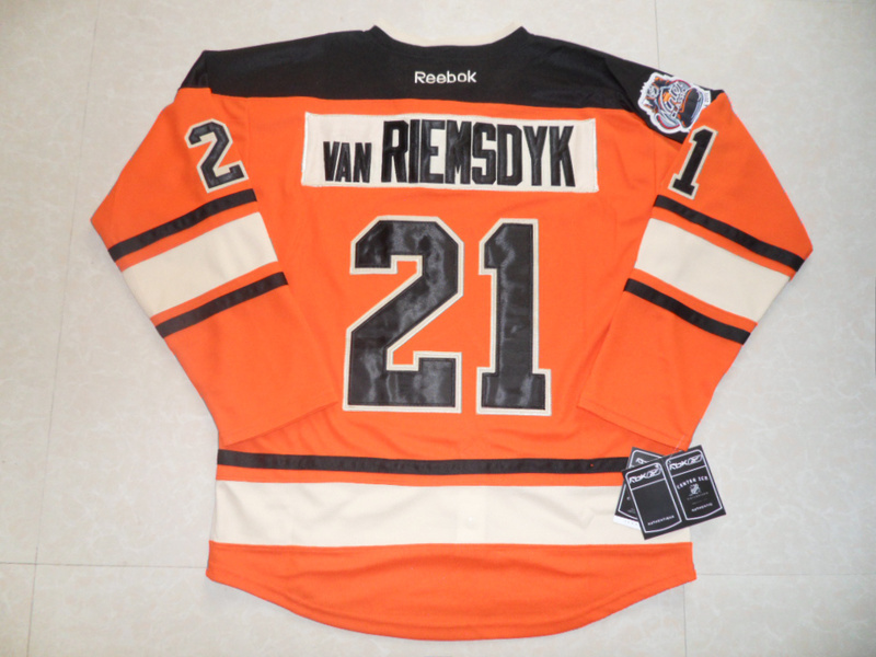 NHL Philadelphia Flyers 21 James van Riemsdyk Winter Classic Orange Jersey