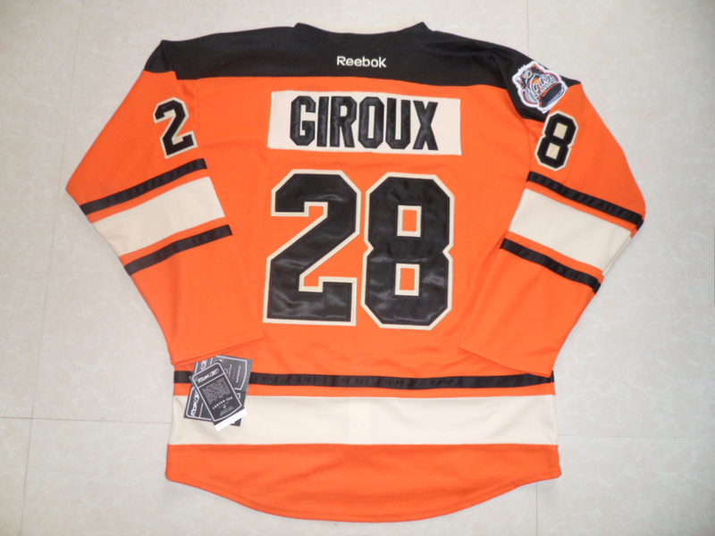 NHL Philadelphia Flyers 28 Claude Giroux Winter Classic Orange Jersey