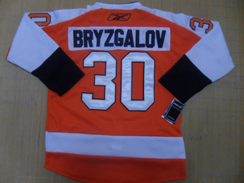 NHL Philadelphia Flyers 30 Bryzgalov Orange Jersey
