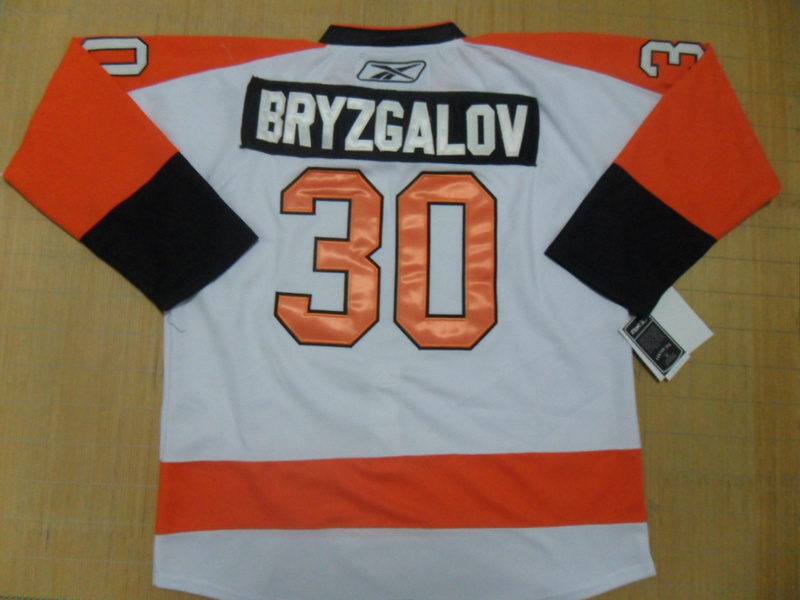 NHL Philadelphia Flyers 30 Bryzgalov White Jersey