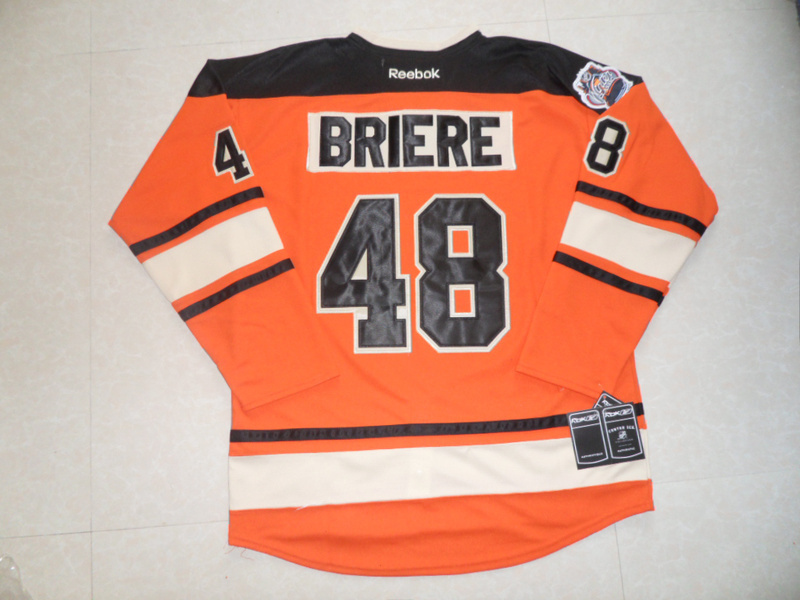 NHL Philadelphia Flyers 48 Danny Briere Winter Classic Orange Jersey