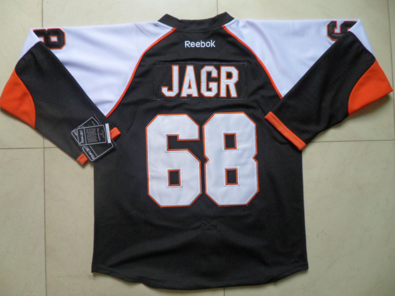 NHL Philadelphia Flyers 68 Jagr Black Jersey