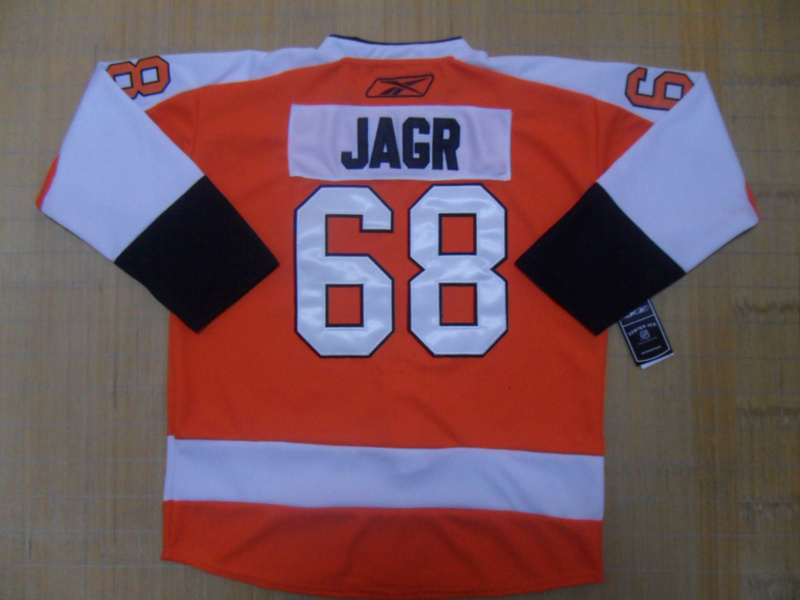 NHL Philadelphia Flyers 68 Jagr Orange Jersey
