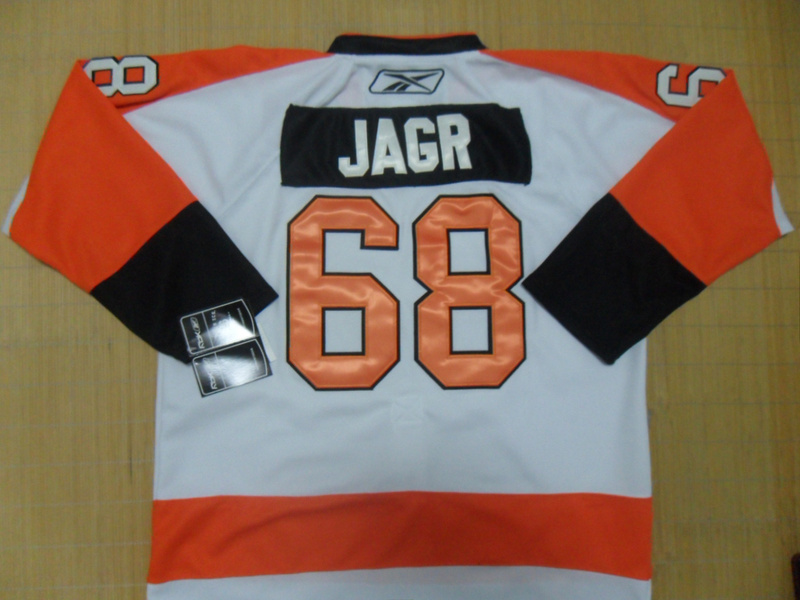 NHL Philadelphia Flyers 68 Jagr White Jersey