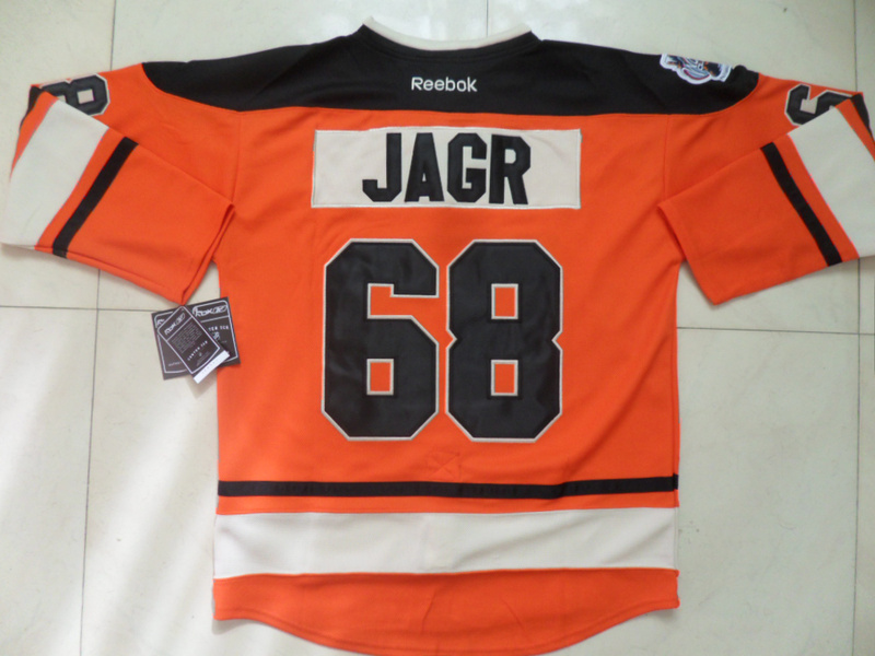 NHL Philadelphia Flyers 68 Jaromir Jagr Winter Classic Orange Jersey