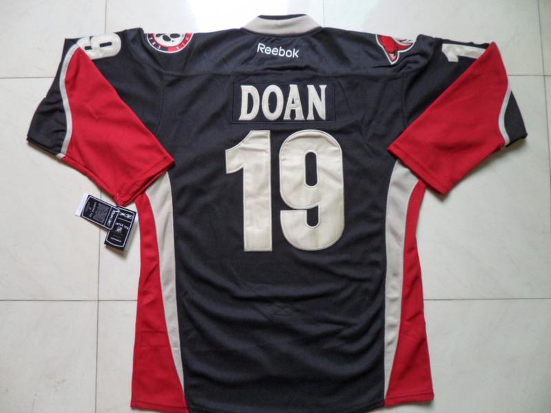 NHL Phoenix Coyotes 19 Shane Doan Black Third Jersey