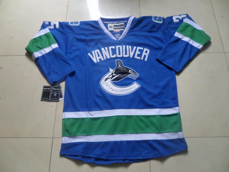 NHL Vancouver Canucks 35 Cory Schneider Blue1 Jersey