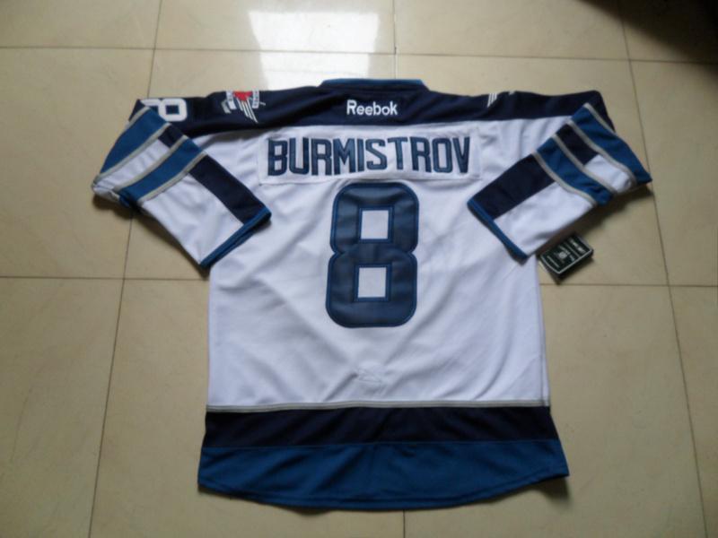 NHL Winnipeg Jets 8 Alexander Burmistrov White Jersey