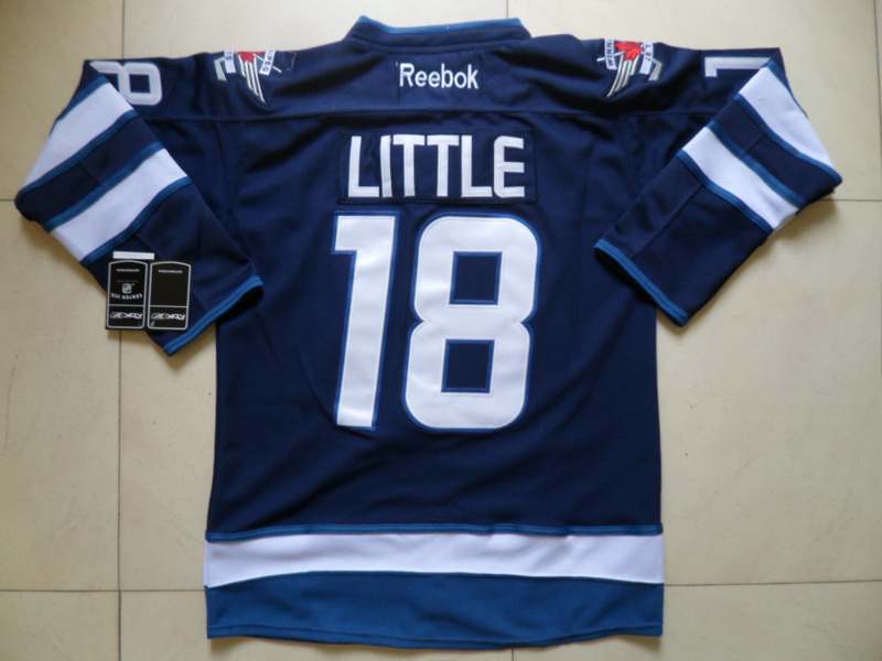 NHL Winnipeg Jets 18 Bryan Little Blue Jersey