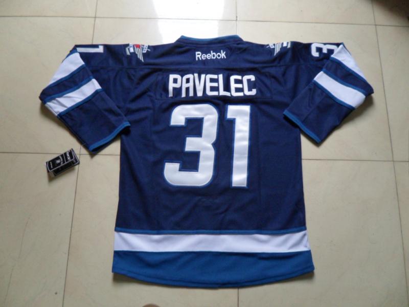 NHL Winnipeg Jets 31 Ondrej Pavelec Blue Jersey