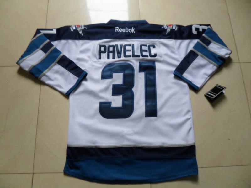 NHL Winnipeg Jets 31 Ondrej Pavelec White Jersey