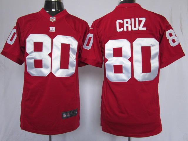 New York Giants 80 cruz red Game nike jerseys