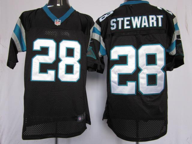 Carolina Panthers 28 Jonathan Stewart black Elite nike jerseys