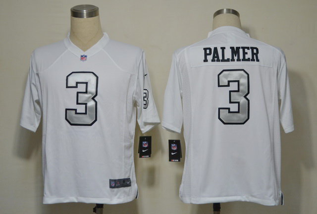 Oakland Raiders 3 Carson Palmer White Silver Number Game nike jerseys