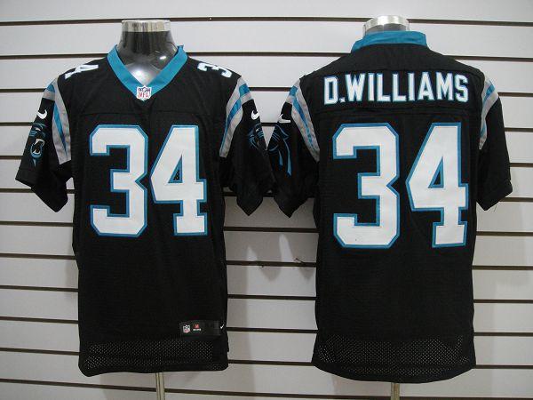 Carolina Panthers 34 D.williams Black Elite nike jerseys