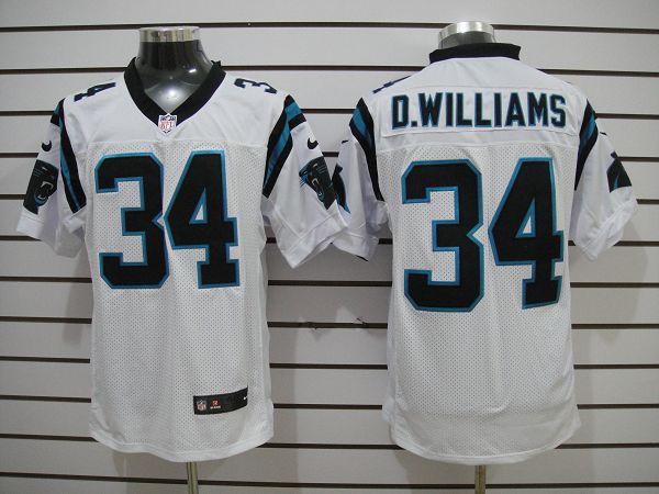 Carolina Panthers 34 D.williams White Elite nike jerseys