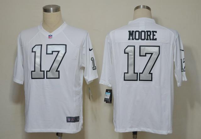 Oakland Raiders 17 Denarius Moore White Game nike jerseys