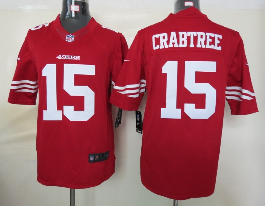 San Francisco 49ers 15 Crabtree Red nike Limited Jersey