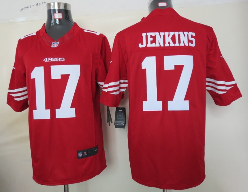 San Francisco 49ers 17 Jenkins Red nike Limited Jersey