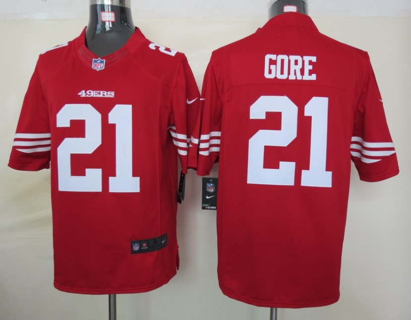 San Francisco 49ers 21 Gore Red nike Limited Jersey